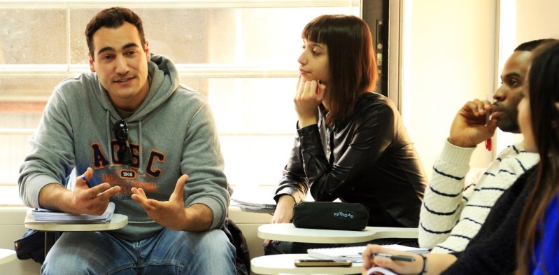 Hellenic American University students in class
