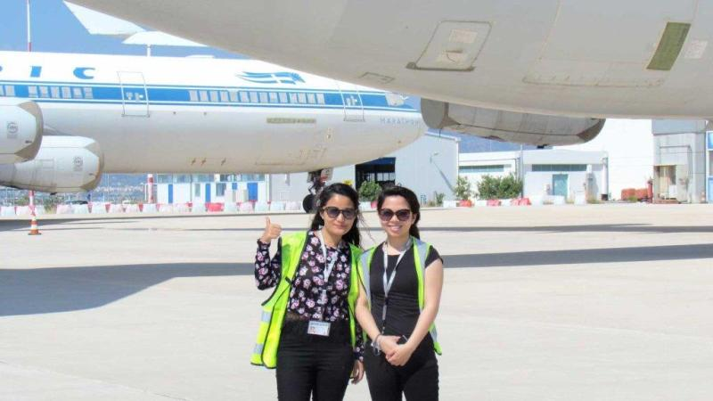 Dianna Rodriguez and Thinley Wongmo, CUNY York College Aviation Management students